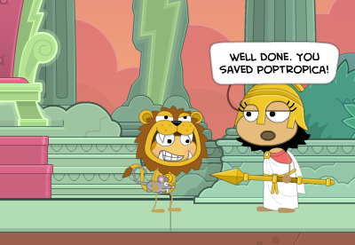 Winning Mythology Island in Poptropica