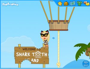 poptropica sharktooth island entrance