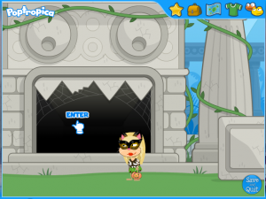 poptropica sharktooth island entrance of the temple