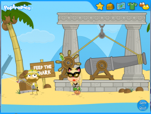 poptropica sharktooth island feed the shark