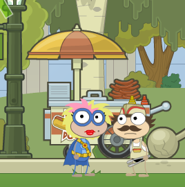 Poptropica Hot Dog Vendor