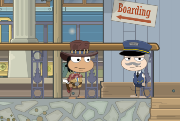 Boarding the Train in Diamond Plains