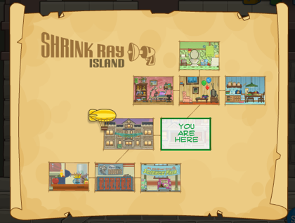 Poptropica Shrink Ray Island Map