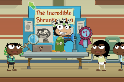 Poptropica Shrink Ray Island Finish