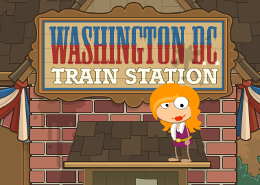 Poptropica Mystery Train Island - D.C. Station